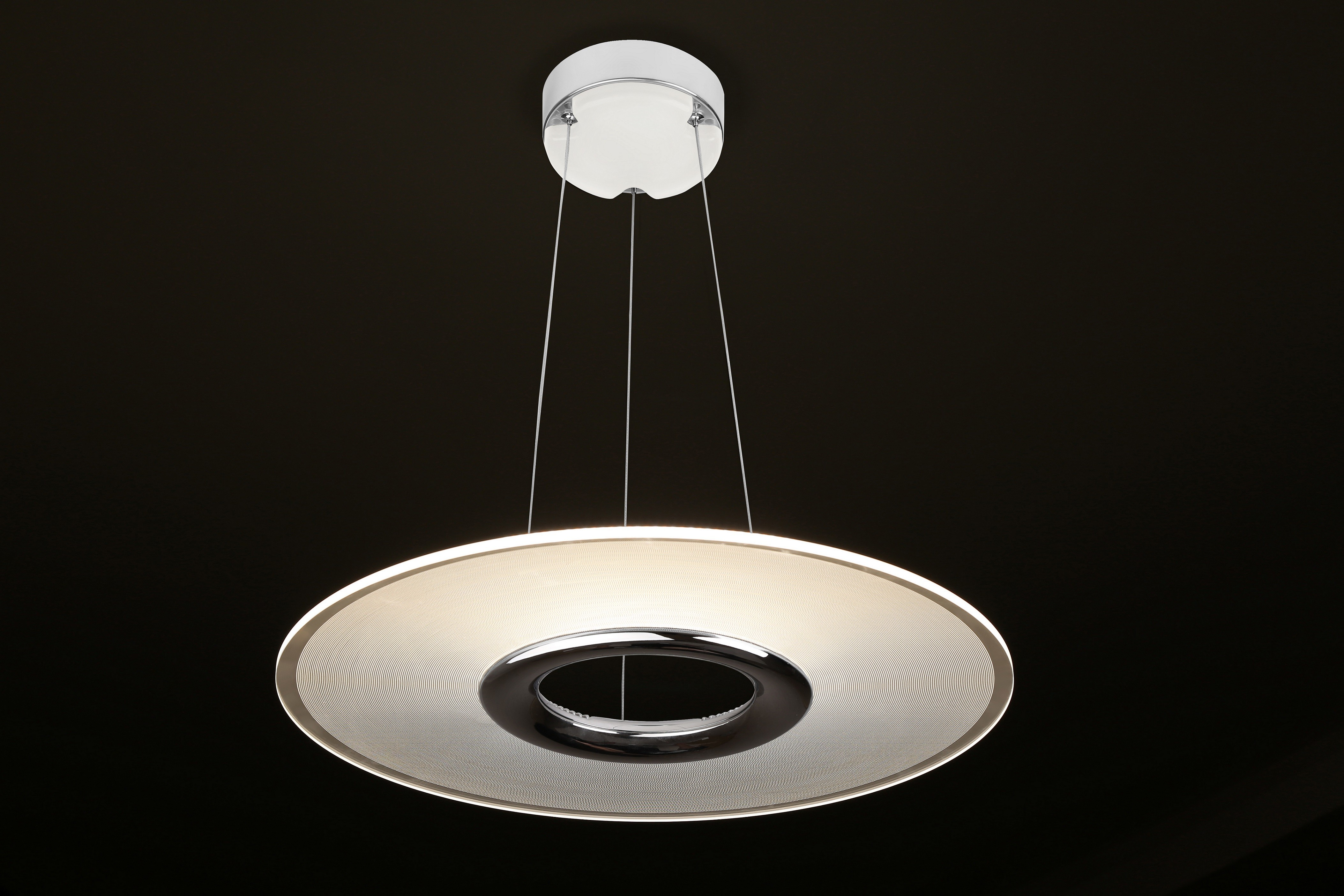 28W Eye Protection LED Pendant Lamp , Remote Control Round Hanging Ceiling Light